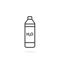 thin line bottle icon with shadow vector image vector image