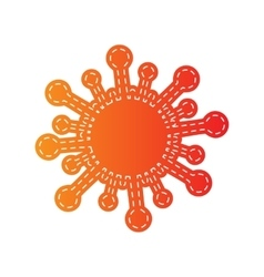 Virus sign Orange applique isolated vector image vector image