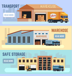 warehouse shipping transportation and delivering vector image vector image