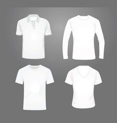 white t shirt set vector image vector image