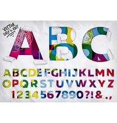 Wrapped alphabet vivid vector image vector image