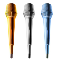 Microphone on a white background vector