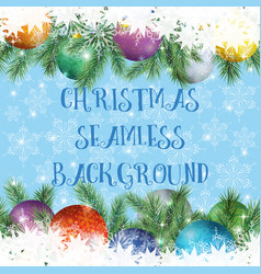 christmas holiday seamless vector image