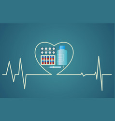 Health concept - heart symbol consists of the vector