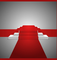 podium design element red carpet background vector image