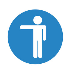 Silhouette of person pointing vector