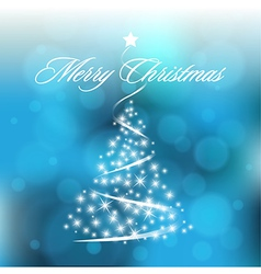 Christmas Blurry Background with Circles vector image