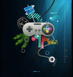 joystick with buttons vector