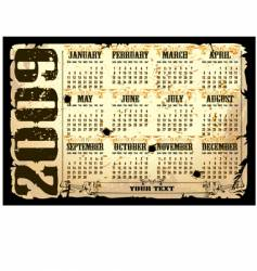 Calender of 2009 starts sunday vector