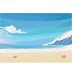 Paradise beach lagoon landscape vector
