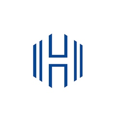 Letter h business line logo vector