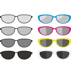 sunglasses collection vector image