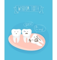 Comics about wisdom tooth vector