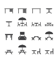 Table icon set vector