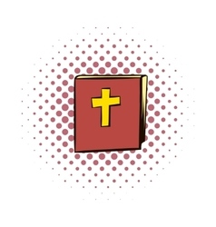 Bible comics icon vector