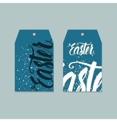 Set of easter tags labels design vector
