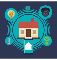 Home automation design vector