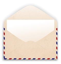 Aged envelope design vector