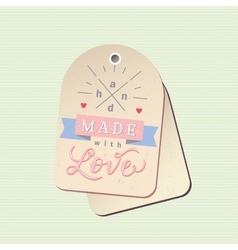 Hand made label vector