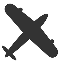 Aeroplane Flat Icon vector image vector image