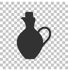 Amphora sign dark gray icon on vector