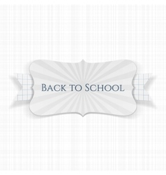 Back to school festive label vector