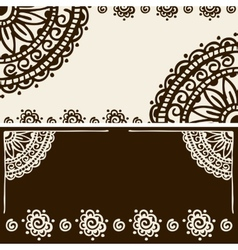 Banner mehendi ornament vector