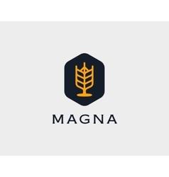 Brewery logotype Beer logo design template vector image vector image