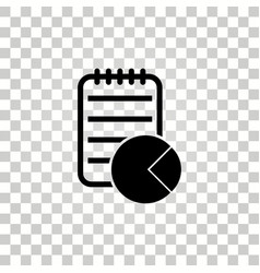 business report icon vector image vector image