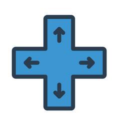 control button vector image vector image