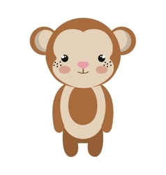 cute little monkey animal character vector image vector image