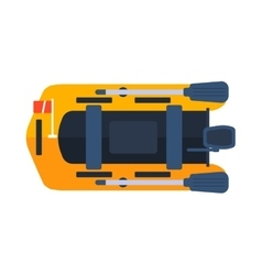 Dinghy boat vector