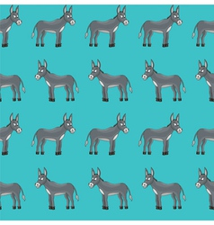 donkey pattern vector image vector image