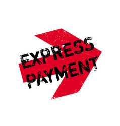 Express payment rubber stamp vector