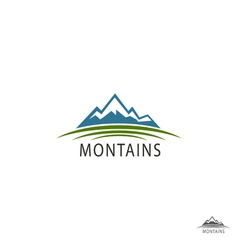 Flat Mountain Logo of Travel Icons vector image
