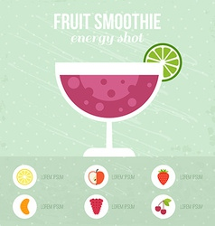 Fresh Smoothie vector image vector image