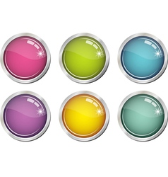 Glassy color buttons vector
