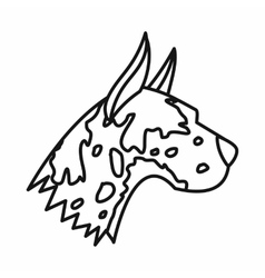 Great dane dog icon outline style vector
