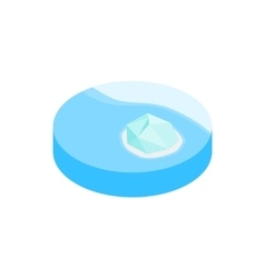 Iceberg in antarctica isometric 3d icon vector