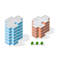 Isometric 3d landscape of the city top view of vector