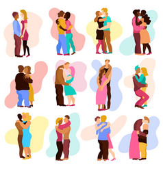 love hugs set vector image vector image