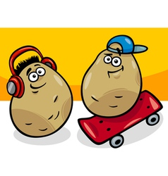 new potatoes cartoon vector image
