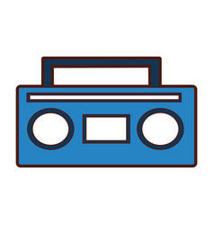 Old radio music icon vector