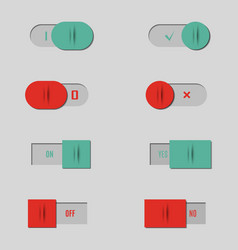 set of buttons and switches vector image vector image
