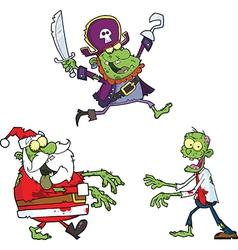 Set of cartoon monsters vector