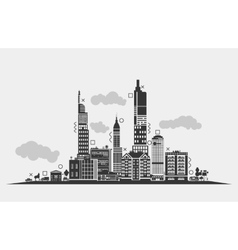 Silhouette for urban area of city Panorama vector image vector image