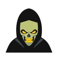 Skeleton icon flat vector
