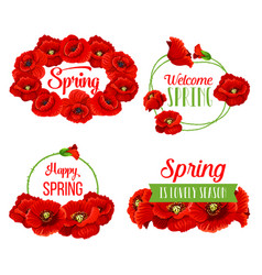 Spring flowers bunches for greeting quotes vector