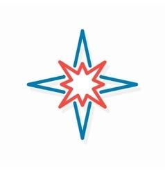 star logo or icon vector image vector image