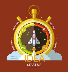 Start up Income and success Business infographics vector image